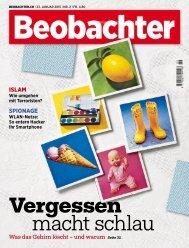 Beobachter Magazin Nr 02 vom 23. Januar 2015