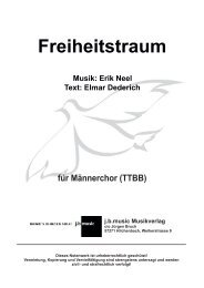 Freiheitstraum  (für Männerchor TTBB)