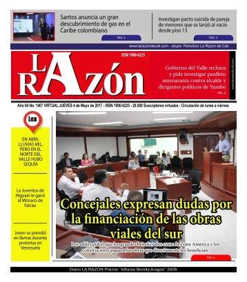 Diario La Razón jueves 4 de mayo de 2017
