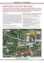 """Bahnhaltestelle """"Universität - Minimundus"""" - Fahrgast Kärnten"""
