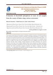 Evaluation of absorbable phosphorus in some of soil samples from the county of bahar using various extractants