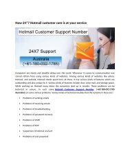 Hotmail Technical Customer Support number +61-180-092-1785