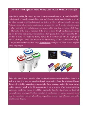 Branded Items