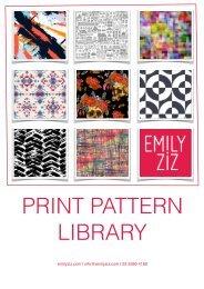 Emily Ziz Pattern Library Catalogue 040517