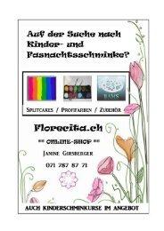 Kinderschminke | FLORECITA by Janine Girsberger