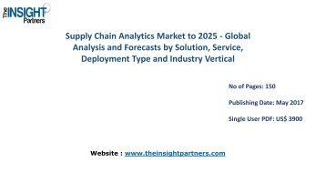 Supply Chain Analytics Market Analysis & Trends - Forecast to 2025 |The Insight Partners