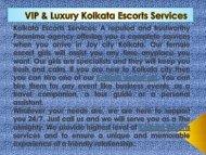 Kolkata Escorts Services By Poornima Salian