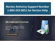 Norton Antivirus Support Phone Number 18002430051
