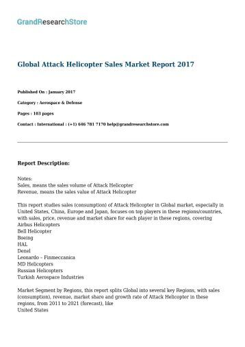 Global Attack Helicopter Sales Market Report 2017