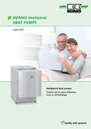 REMKO HotHybrid Inverter Heat Pumps 2012-13