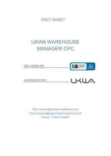 UKWA Warehouse Manager CPC