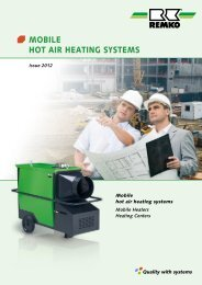 Product overview Mobile hot air heating systems - Remko