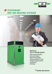 REMKO Stationary Warm Air Heating Systems 2012-13
