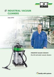 INDUSTRIAL VACUUM CLEANERS - Remko