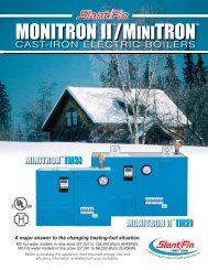 Monitron II and Minitron Catalogue Sheet - Slant/Fin