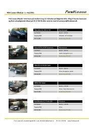 Mini Lease tilbud pr. 1. maj 2011 - First Lease