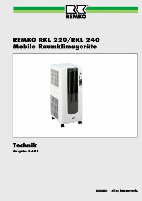 Technik REMKO RKL 220/RKL 240 Mobile Raumklimageräte
