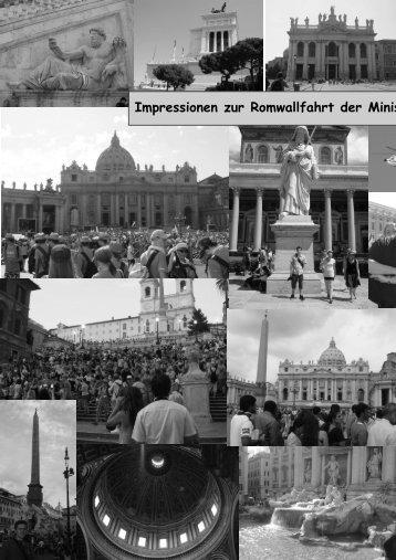 Impressionen zur Romwallfahrt der Ministranten - Pfarrei St ...