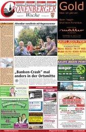 """""""Banken-Crash"""" mal anders in der Ortsmitte - Cronenberger Woche"""