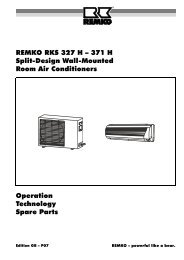 REMKO RKS 327 H – 371 H Split-Design Wall-Mounted Room Air ...