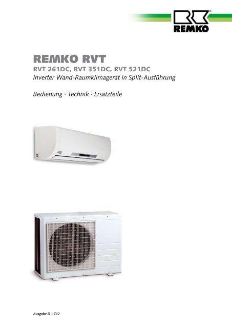 remko rvt261dc-521dc
