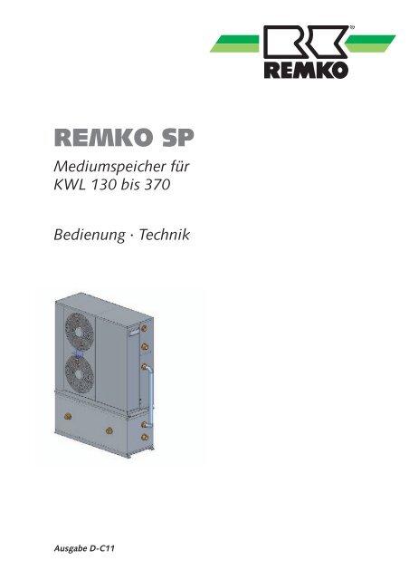 Mediumspeicher für KWL 130 bis 370 Bedienung - Remko