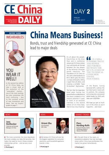 CE China Daily - Day 2 Edition
