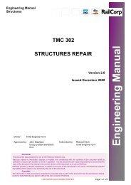 tmc 302 structures repair - RailCorp Engineering Internet