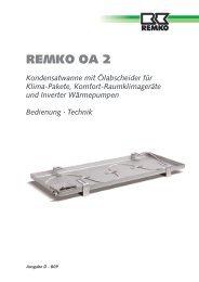 Kondensatwanne mit Ölabscheider für Klima-Pakete, Komfort - Remko