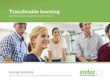 Management Training Courses - Endor Learn and Develop (DRAFT)