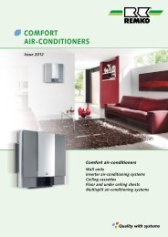 REMKO Comfort air-conditioners 2012-13
