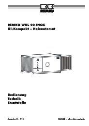 REMKO WKL 20 INOX Öl-Kompakt – Heizautomat Bedienung ...