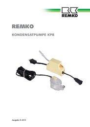 Kondensatpumpe KP8 D-W12 - Remko
