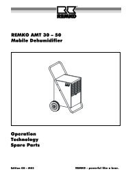 REMKO AMT 30 – 50 Mobile Dehumidifier Operation Technology ...