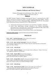 mint seminar - Centre d'Économie de la Sorbonne - Université Paris ...