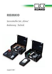 """Servicekoffer-Set """"Klima"""" Bedienung · Technik - Remko"""
