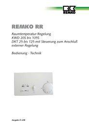 Raumtemperatur-Regelung KWD 20S bis 105S DKT 25 bis ... - Remko