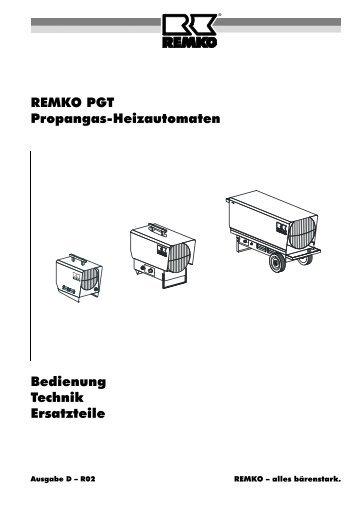 REMKO PGT Propangas-Heizautomaten Bedienung Technik ...