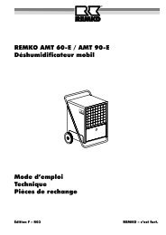 Il faut que les travaux sur l'installation frigorifique - Remko