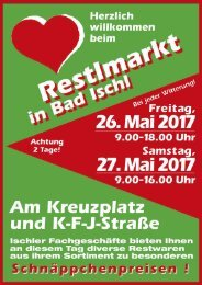restlmarkt plakat 2017 Mai