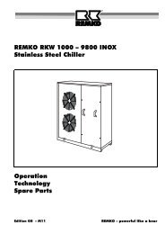 REMKO RKW 1000 – 9800 INOX Stainless Steel Chiller Operation ...