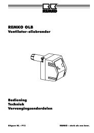 Controleer dat de stelmotor of de luchtklep in geen - Remko