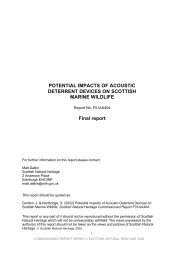 potential impacts of acoustic deterrent devices on scottish ... - Ecologic