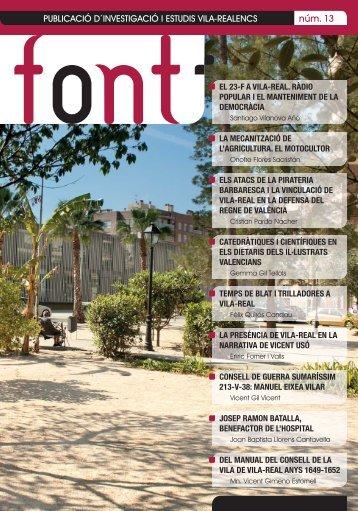 FONT núm. 13 - Publicació d'investigació i estudis vila-realencs