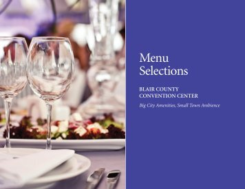 Blair County Convention Center Menu Selections