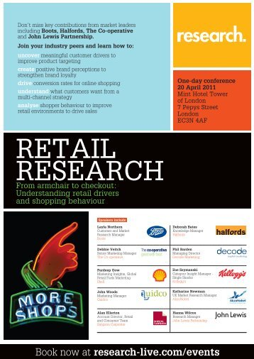 Retail Research conference, 20 April 2011 - Research-live.com