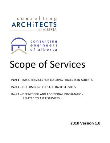 Scope of Services - Consulting Architects of Alberta