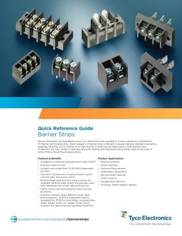 Quick Reference Guide - TTI Inc.