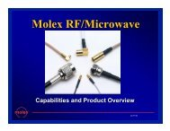 Molex RF/Microwave Facilities - TTI Inc.