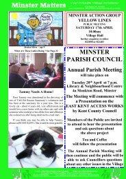 Minster Matters Your Friendly Village Newsletter